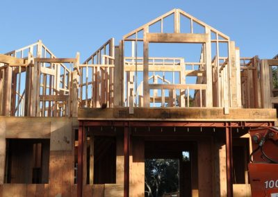 Second Floor wall framing complete.