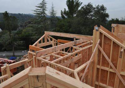 Bedroom #1 gambel roof beams set.