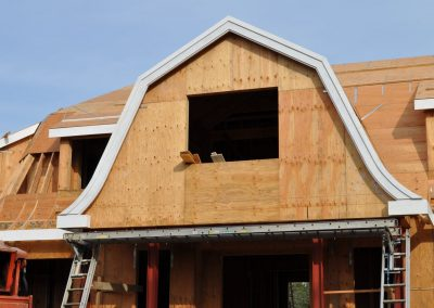 Front porch radius varges and radius shingle mold.