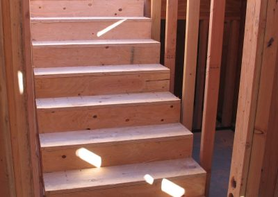 Basement stairs installed.