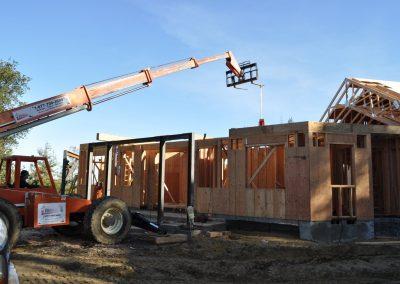 We're setting the W8x40 floor joist beam.